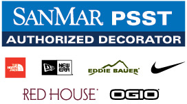 PSST Authorized Decorator: North Face, New Era, Eddie Bauer, Nike, Red House, Ogio